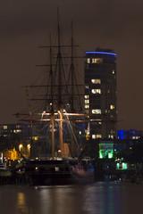 HMS Warrior at night (Pompey Photo Bunny) Tags: skyline night nikon waterfront harbour hard portsmouth dockyard hmsvictory gosport d3200 yahoo:yourpictures=coasta