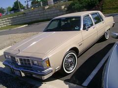1981 Oldsmobile Ninety Eight Regency (splattergraphics) Tags: 98 1981 carshow olds oldsmobile ninetyeight olds98 burtonsvillemd churchoftheholydonut