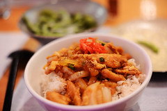 親子丼 (Oyakodon) (Mark Liddell) Tags: street food chicken st bar table cuisine japanese restaurant scotland beans rice bokeh glasgow egg bowl queen noodle ban ichi edamame ichiban donburi oyakodon 丼 親子丼 一番 いちばん
