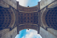 Arc de up skirt. #parislookup