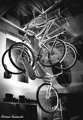 (Eleanna Kounoupa) Tags: windows blackandwhite bicycle decoration displaycases  blackwhitephotos