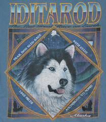 Anchorage - Iditarod Shirt (roger4336) Tags: cruise dog shirt alaska anchorage 1997 sleddog iditarod