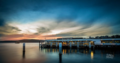 Manly Wharf (Mike Hankey.) Tags: sunset manly wharf