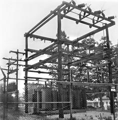 Center Harbor sub (en tee gee) Tags: wood old newhampshire transformers poles substation 4kv 33kv 12kv