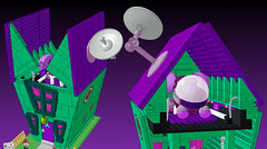 4 LEGO Ideas Invader Zim set voot, house exterior and roof opening (buggyirk) Tags: dog house piggy pig gnome lego nick cartoon disguise invader spaceship minifig zim base gir nickelodeon minifigure irken vasquez dib jhonen cuusoo voot buggyirk jiminyc