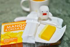 No stick! (WindUpDucks) Tags: food orange white snow ice toy toys frozen bars fuzzy cream mango domo ba popsicle qee toy2r
