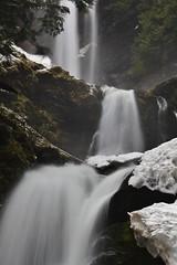 Bald Mountain Falls (Aaron's Waterfall World) Tags: snow ice nature beauty creek waterfall washington highway scenery mt baker hiking go east whatcom 542