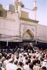 Main gate of Sheikh Alansari Mosque in South Iraq