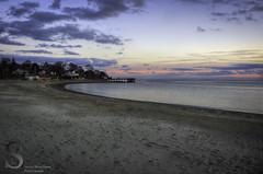 footsteps on Gulf BEach (Singing With Light) Tags: sunset green beach night festive photography lights december gulf pentax 7 exhibit k5 k3 charlesisland ctfall 2013 gulfbeach miilford singingwithlight singingwithlightphotography