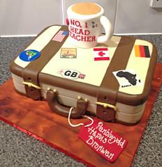 Suitcase Teacher Cake