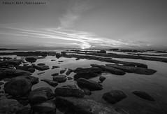Perspective (ParkerReppPhotography) Tags: winter sunset sea sun reflection water rock landscape sand rocks sandiego lj sigma wideangle lajolla sd slowshutter lowtide windansea