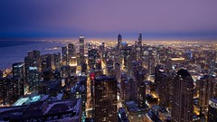All That Shimmers (Brian Koprowski) Tags: chicago skyline architecture midwest downtown cityscape pentax dusk searstower bluehour trump secondcity 16x9 windycity trumpinternationalhotelandtower sigma1020f456 willistower pentaxk5 briankoprowski bkoprowski