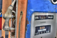 Day 48 - The Old Pump (brandondesign) Tags: old blue orange classic broken glass metal rust charlotte antique decay urbandecay gas pump numbers rusted 365 hdr gaspump highres complementarycolors project365 365project