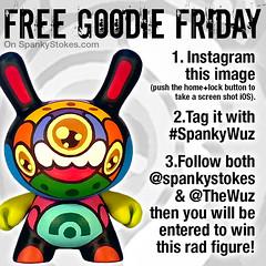 Dunny Giveaway! (WuzOne) Tags: simon toy diy geek free kidrobot giveaway custom dunny designertoy vinyltoy munny artoy spankystokes wuzone