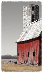 Old red barn (ellenm1) Tags: rustic barns farms agriculture processed