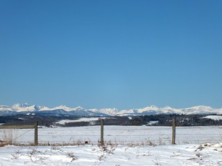 Foran Grade Spring Snow Hike - Mountain views enroute 2