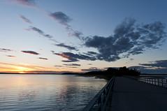 Sunset (Samkogz) Tags: sunset sky sun lake color reflection water night clouds dark twilight nikon orebro d90