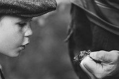 Little Wonders of Life (Thousand Word Images by Dustin Abbott) Tags: ca boy bw ontario canada nature monochrome childhood animal vintage children wonder pembroke spring hands woods child fineart frog event cap fullframe oldfashioned petawawa 2015 eganville canoneos6d canonef70300mmf456lis thousandwordimages dustinabbott dustinabbottnet adobelightroomcc