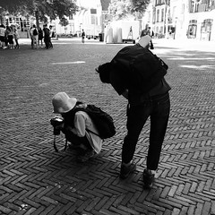 Domplein Utrecht, Hipstamatic (patrick van den hurk) Tags: street blackandwhite bw apple netherlands utrecht zwartwit nederland iphone 5s iphoneography hipstamatic iphone5s