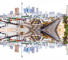 194-365 Differing Viewpoints (Paul K.-QuixoteImages) Tags: losangeles mirrorimage conceptual railyard dtla pby adifferentpointofview piggybackyard opposingviewpoint cityredevelopmentproject