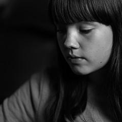 Nell, 1 (lesbru) Tags: portrait blackandwhite interior nell