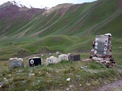 """Memorial and graves of 8 Russian women climbers who died on Peak Lenin on 1974 • <a style=""""font-size:0.8em;"""" href=""""http://www.flickr.com/photos/41849531@N04/20451469265/"""" target=""""_blank"""">View on Flickr</a>"""