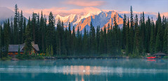 Emerald Lake - Canada (~ Floydian ~ ) Tags: henkmeijer photography floydian canada britishcolumbia yohonationalpark np emeraldlake sunrise dawn morning rockymountain lodge water canadianrockies landscape nature canon canoneos1dsmarkiii