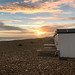 Goring-By-Sea (UK) seafront and beach huts