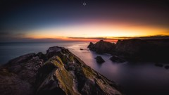 Another Day Dawns (Augmented Reality Images (Getty Contributor)) Tags: canon cliffs clouds colours dawn landscape leefilters longexposure morayfirth portknockie rocks scotland sunrise water waves