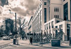 Camden Town-1.jpg (Colin Dorey) Tags: greaterlondonhouse 180hampsteadroad london nw17aw carrerascigarettefactory morningtoncrescent meandohcollins architecture agporri carreras factory artdeco bw blackwhite monochrome blackandwhite camden camdentown northlondon uk people highstreet inamorestaurant inamo