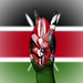Peace Symbol with National Flag of Kenya