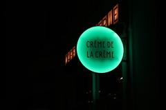 La crème de la crème (No_Mosquito) Tags: vienna city centre urban night lights sign austria canon powershot g7x mark ii minimalistic dark coffee house neon green