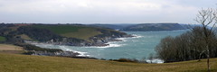 Polridmouth View (Worthing Wanderer) Tags: grey coast spring cornwall cloudy path windy cliffs april dull polkerris southwestcoastpath
