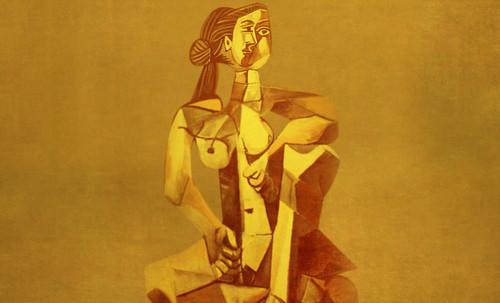 "Mujer Sentada, geometrización de Pablo Picasso (1953), abstracción de Roberto Real de León (2013). • <a style=""font-size:0.8em;"" href=""http://www.flickr.com/photos/30735181@N00/8815893610/"" target=""_blank"">View on Flickr</a>"