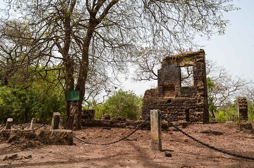 Fort of San Domingo near Juffureh, history of the slave trade from Gambia