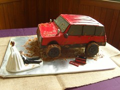 Muddy Jeep Groom's Cake (MammaTessies) Tags: jeep groomscake redjeep muddyjeep