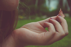 (MercedesPreteau) Tags: blue summer sky grass vintage hair freedom hands hand fingers free palm nails chip finer
