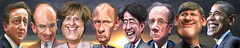 G-8 Leaders 2013 - Caricatures
