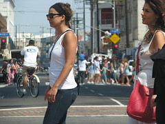 Garment District, Los Angeles (Dan_DC) Tags: california people urban woman candid neighborhood pedestrians crosswalk garmentdistrict downtownlosangeles urbanscene ethnicenclave