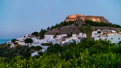 The Acropolis of Lindos at Evening, Rhodes, Greece (Aleksey Kotikov) Tags: greece rhodes lindos