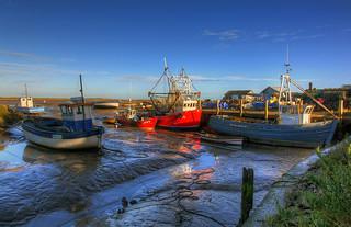 Brancaster Staithe (Norfolk) Low tide, 7 shot HDR