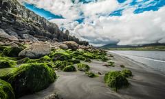 Landscape  (Explored) (Deborah Valentin) Tags: ocean sea summer cliff mountains landscape island photography scotland sand isleofskye lowtide whiteclouds staffin nikond90 daarklands deborahvalentin