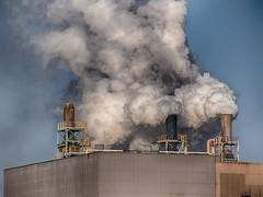 Panaches ! (!Michel Grenier!) Tags: industry smoke tracy pollution industrie density densité fumée panache plumeofsmoke québecferettitane lumixgvario100300f4056 olympusem5 quebecironandtitanium