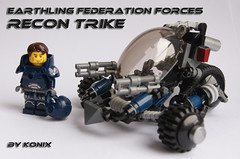 Recon trike and pilot (-Konix-) Tags: lego space rover orion scifi trike buggy moc conflit