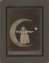 Little Girl on a Paper Moon (steveartist) Tags: children ephemera printedephemera littlegirls vintagephotos papermoon antiquephotos vintagekids 2013