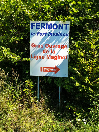 Sign to Fort de Fermont, France
