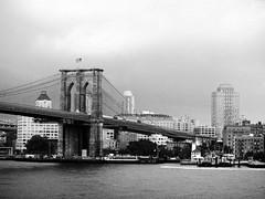 Brooklyn Bridge (Carlos Henrique Pereira) Tags: bridge bw newyork brooklyn canon cityscape pb paisagem powershot dxo d20 filmpack