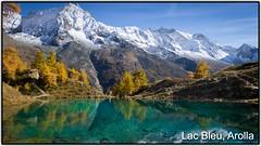 lac bleu - la gouille (Arie van Tilborg) Tags: suisse valais zwitserland lacbleu derborence tseuzier zeuzier