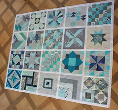Finished Quilt Top - do. Good Stiches - Happiness Circle April 2013 (by niveas) Tags: