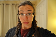 252.365 exercise regime is a bit of a shock to the system (charlottehbest) Tags: portrait glasses tired surprise 365 braids plaits 252 day252 selfies project365 365days 2013 252365 charlottehbest 3652013